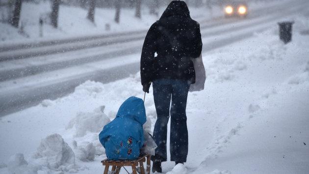 "Sturmtief ""Egon"" stürzte Europa ins Winterchaos (Bild: APA/dpa/Uwe Zucchi)"