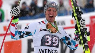Verrücktes Ski-Wunder bei der Lauberhorn-Kombi! (Bild: GEPA)