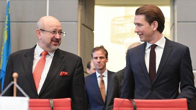 OSZE-Generalsekretär Lamberto Zannier und Außenminister Sebastian Kurz (Bild: APA/HELMUT FOHRINGER)