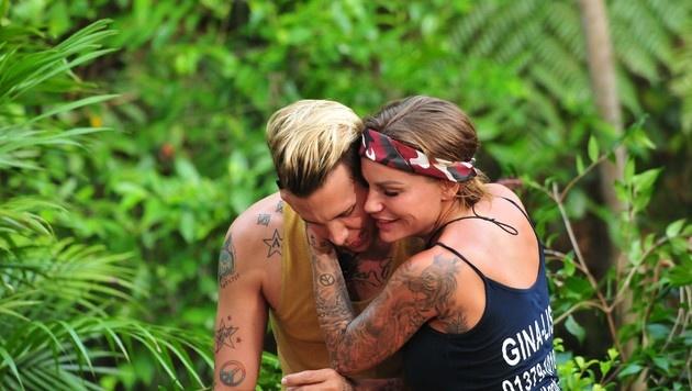 """""""Best Buddies"""" Florian und Gina-Lisa (Bild: RTL)"""