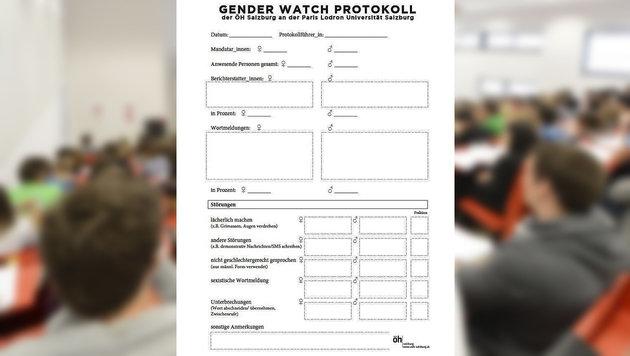 Salzburg: ÖH blamiert sich mit Gender-Protokoll (Bild: APA/HELMUT FOHRINGER, ÖH)
