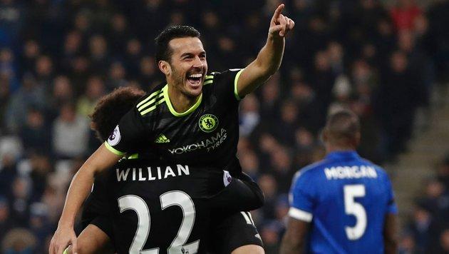 3:0! Chelsea lässt Meister Leicester keine Chance (Bild: APA/AFP/ADRIAN DENNIS)