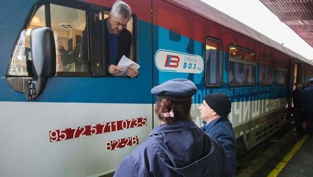 """Streit um Zug: Vucic von Aufschrift """"überrascht"""" (Bild: AFP)"""