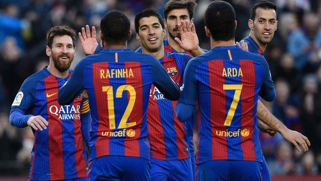 5:0-Gala! Barcelona fegt über Las Palmas hinweg (Bild: APA/AFP/LLUIS GENE)