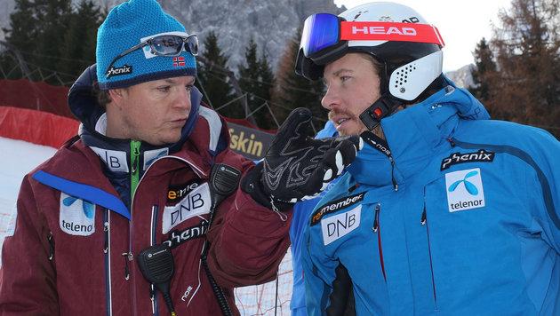 Nydegger (li.) mit Jansrud (Bild: GEPA)