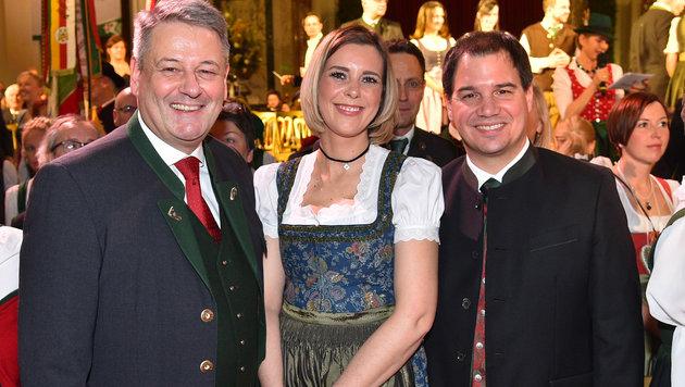 """""""Prächtig in Tracht: Miss Austria beim Steirerball (Bild: Andreas Tischler)"""""""