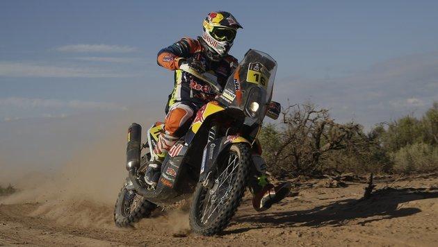 Historisch! Walkner bei Rallye Dakar Gesamt-2. (Bild: AP)