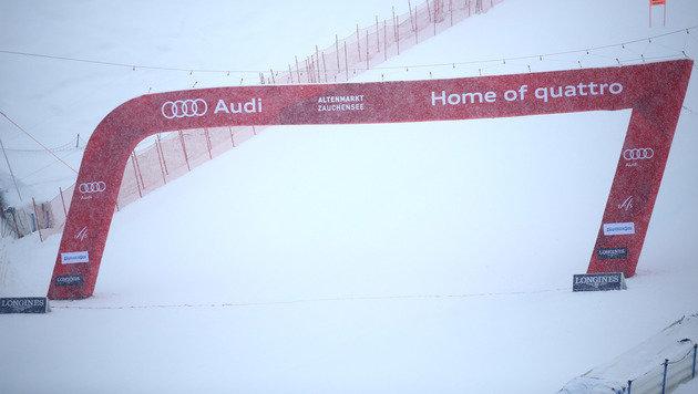 Schnee-Chaos! Kein Training & Rennen in Zauchensee (Bild: GEPA)