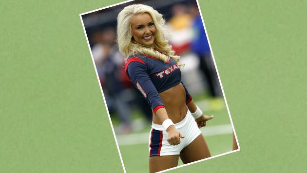 Fesch, die Cheerelader-Dame der Houston Texans. Von wegen American Football sei nicht attraktiv ... (Bild: APA/AFP/GETTY IMAGES/Bob Levey)