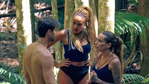 "Gina Lisa Lohfink, Alexander ""Honey"" Keen, Sarah Joelle Jahnel (Bild: RTL)"