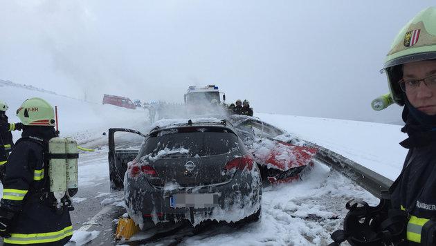 Bei diesem Unfall verbrannte die 18-jährige Nadine E. aus Aigen-Schlägl (Bild: FOTOKERSCHI.AT/KERSCHBAUMMAYR)