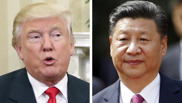 Trump und Chinas Präsident Xi Jinping (Bild: The Associated Press)