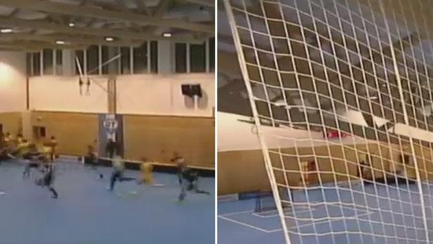 Tschechien: Sporthalle stürzt unter Schneelast ein (Bild: YouTube.com)