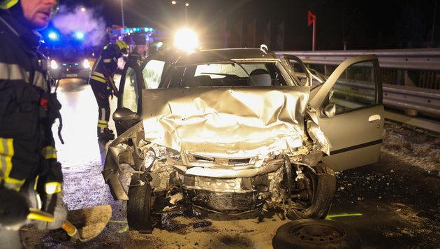 In diesem Unfallwrack starb der zwölfjährige Diogo (Bild: laumat.at / Matthias Lauber)