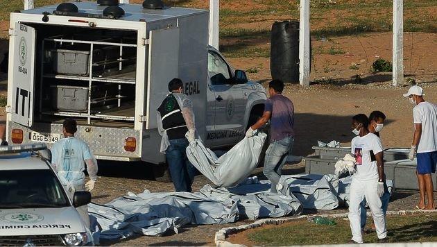 Bandenkrieg in Gefängnis fordert Dutzende Tote (Bild: APA/AFP/ANDRESSA ANHOLETE)