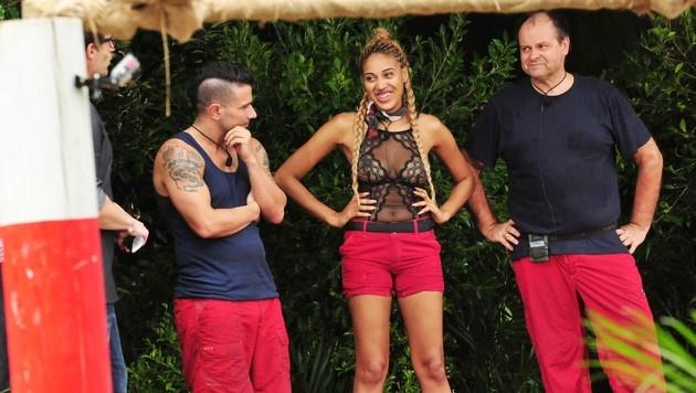 Marc, Sarah Joelle und Markus treten zur Dschungelprüfung an. (Bild: RTL)