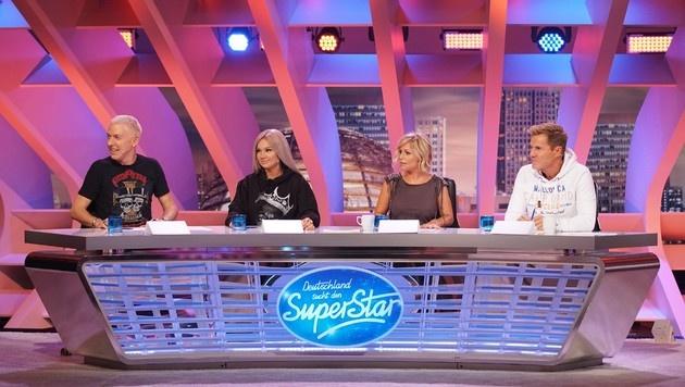 """Die """"DSDS""""-Jury rund um Dieter Bohlen (rechts außen) (Bild: RTL)"""