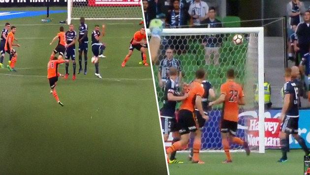 Bei diesem Mega-Freistoß ist jeder Goalie machtlos (Bild: YouTube.com)