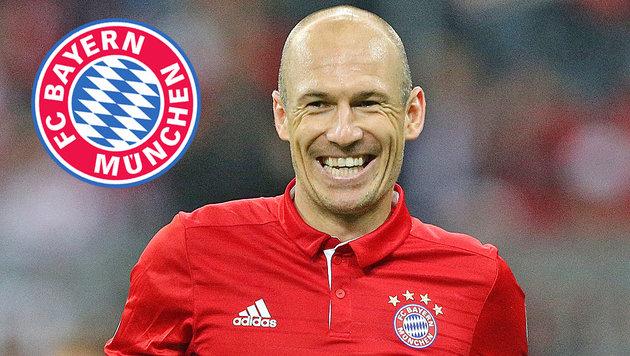 FC Bayern: Robben bleibt bis 2018 in München (Bild: GEPA)