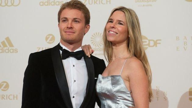 Nico Rosberg mit Frau Vivian (Bild: APA/AFP/THOMAS KIENZLE)