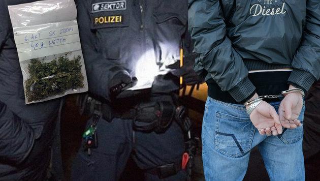 Schlag gegen Drogenszene in Graz: 31 Festnahmen (Bild: Klemens Groh (Symbolbild), LPD Graz)