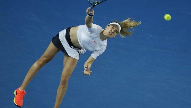 Eugine Bouchard glänzt bei den Australian Open mit neuem Outfit: bauchfrei. (Bild: EPA)