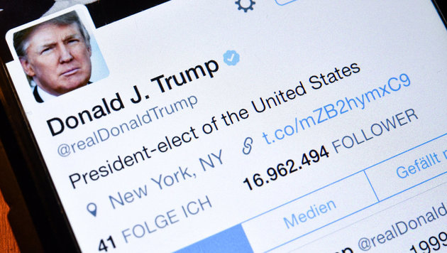"""Trumps Umgang mit Twitter ist Sicherheitsrisiko"" (Bild: dpa-Zentralbild/Patrick Pleul)"