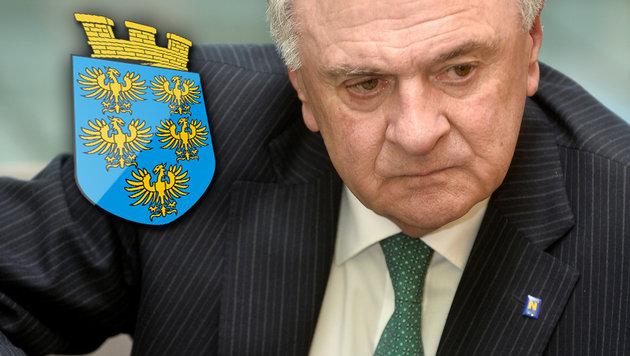 Erwin Pröll tritt als Landeshauptmann zurück (Bild: APA/HERBERT PFARRHOFER)