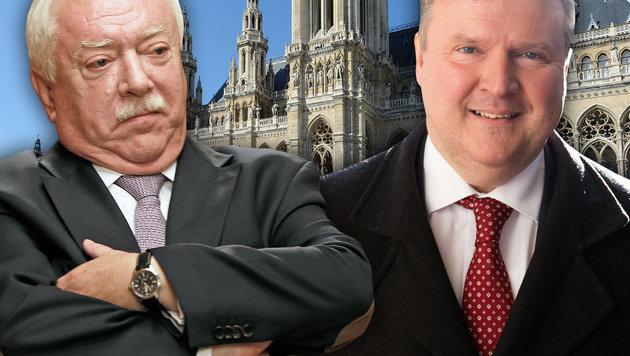 Häupl und Wohnbaustadtrat Michael Ludwig, der von manchen als nächster Bürgermeister gehandelt wird (Bild: thinkstockphotos.de, APA/GEORG HOCHMUTH, Reinhard Holl)