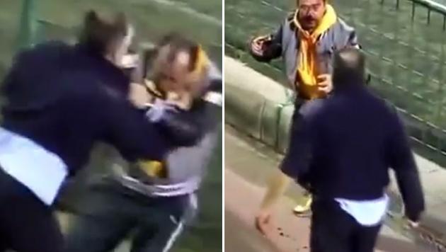 Mega-brutal! Kicker-Väter prügeln sich bei Spiel (Bild: YouTube.com)