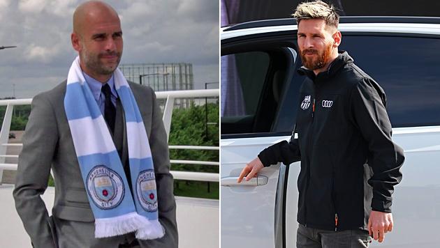 Pep baggert Messi an - und bietet 115 Millionen (Bild: SID, AP)