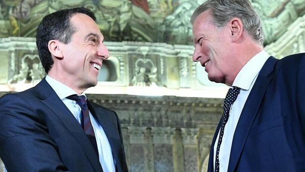Koalition: Gute Miene zum bösen Gewurschtel (Bild: APA/Helmut Fohringer)