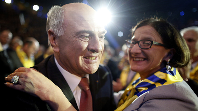 Pröll und Mikl-Leitner im Landtagswahlkampf 2013 (Bild: APA/GEORG HOCHMUTH)