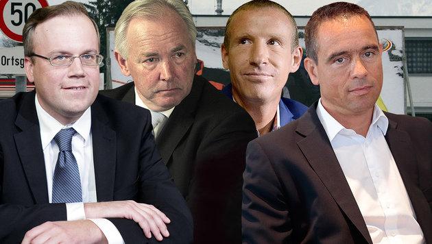 Dobernig, Dörfler, Petzner, Scheuch (Bild: APA)