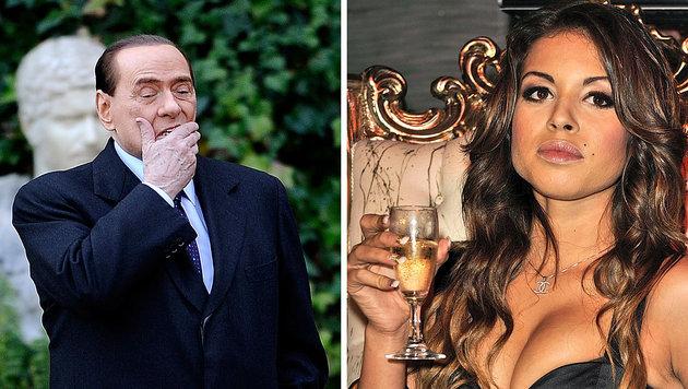 Silvio Berlusconi und Karima al-Mahroug alias Ruby (Bild: AFP/Filippo Monteforte, AFP/Giuseppe Aresu)