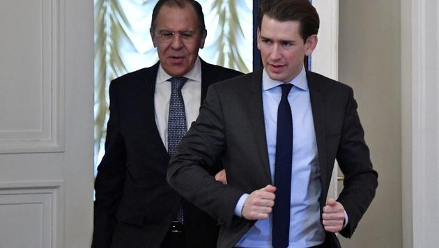 Kurz holt in Moskau Zugeständnisse ab (Bild: NEMENOV/AFP)
