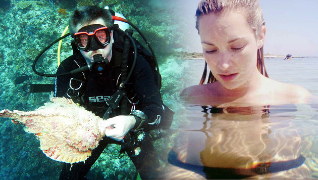 Schauspielerin überlebte Giftfisch-Attacke knapp (Bild: Haus des Meeres, facebook.com)