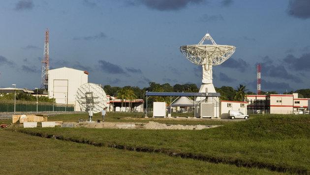 Eine Galileo-Bodenstation in Kourou in Französisch-Guayana (Bild: ESA/CNES/Arianespace/Optique Video du CSG)
