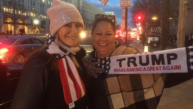 Chrissy Paty und Tochter Kalena sind extra aus Hawaii angereist. (Bild: Gregor Brandl)
