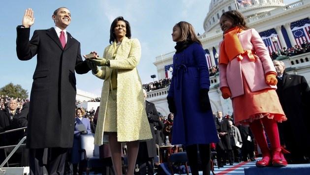 Barack Obama bei seiner ersten Angelobung im Jahr 2009 (Bild: AP)