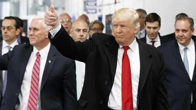 Donald Trump: Als Wachsfigur schon im Amt (Bild: The Associated Press)