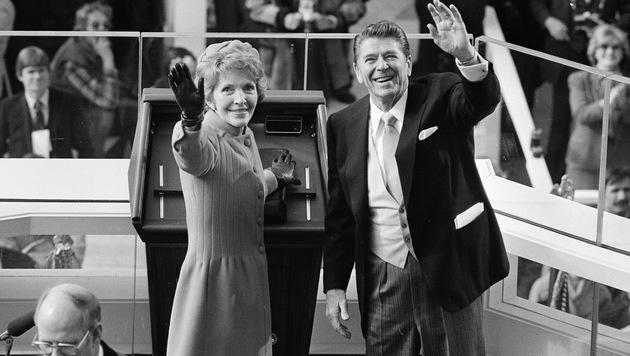 Ronald und Nancy Reagan im Jahr 1981 (Bild: AP)