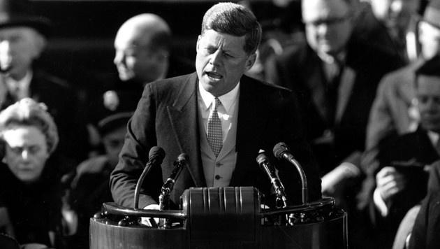 """Kennedy: """"Fragt nicht, was euer Land für euch tun kann - fragt, was ihr für euer Land tun könnt."""" (Bild: AP)"""