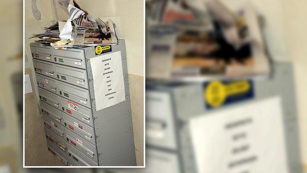 Am Briefkasten stapelte sich die Post des Toten bereits. (Bild: Johann Haginger)