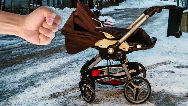 Aus diesem Kinderwagen stürzte das Baby auf die Straße. (Bild: laumat.at/Matthias Lauber, thinkstockphotos.de)