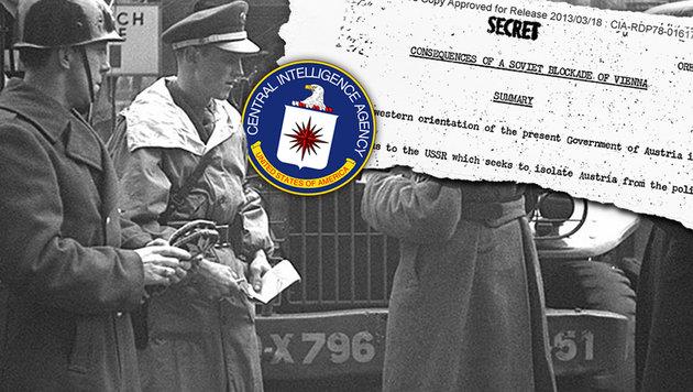 """CIA: So wollten die Russen Wien """"erobern"""" (Bild: CIA.gov, ÖNB/Croy)"""