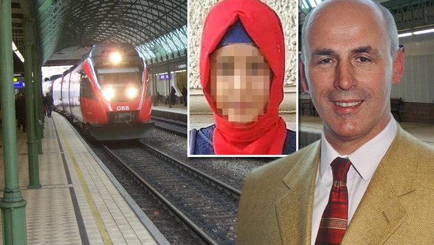 Psychiater Siegfried Kasper analysiert mögliche Tatmotive der jungen Muslima (14). (Bild: Facebook.com, wikipedia.com/my friend, Krone)
