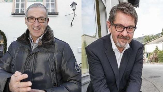 Halleins Vize Walter Reschreiter (re.) ist tot, Stadtchef Gerhard Anzengruber kandidiert nicht mehr. (Bild: Markus Tschepp)