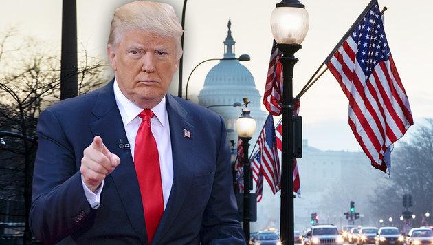 Washington vor Trump-Angelobung im Ausnahmezustand (Bild: AP, face to face)