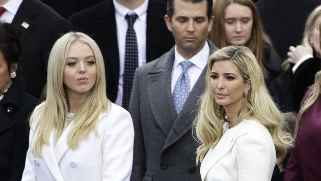 Die Kinder von Donald Trump, Tiffany, Donald junior und Ivanka (Bild: AP)